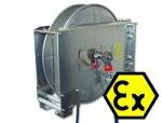Enrouleur de flexible à ressort de rappel antidéflagrante, 20 m, INOX, Ex