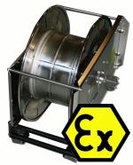 Enrouleur de flexible à ressort de rappel antidéflagrante, 40 m, INOX, Ex